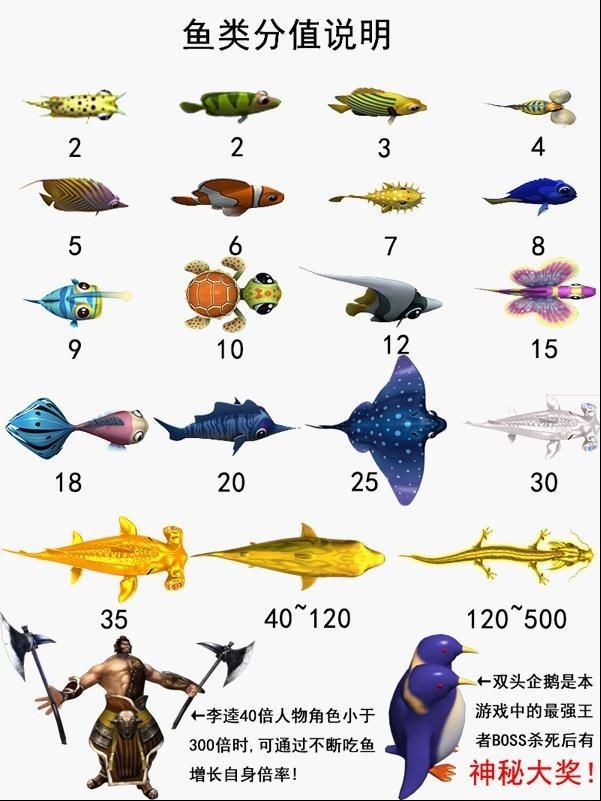鱼类分值说明